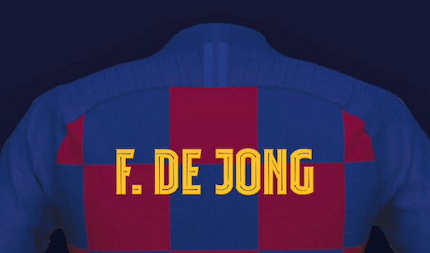 Barca Showcase Their Own Typography Fc Barcelona Play