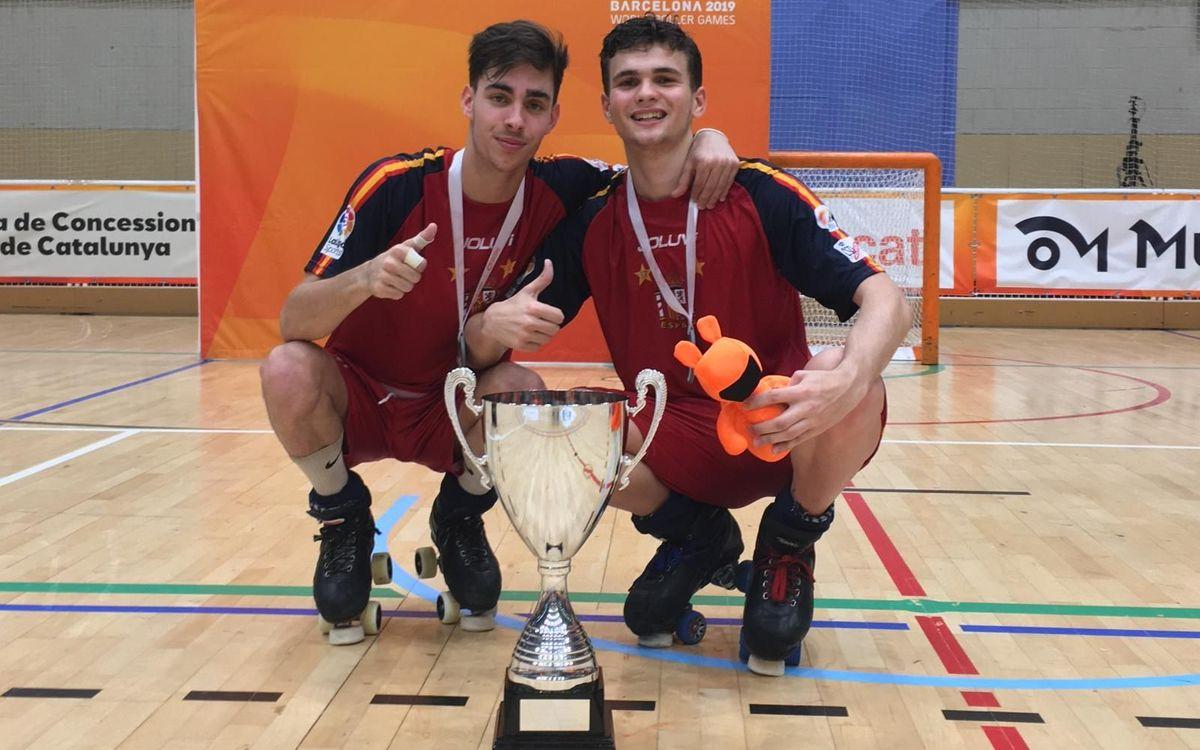 Oriol Llenas i Martí Gabarró, Campions del Món U19