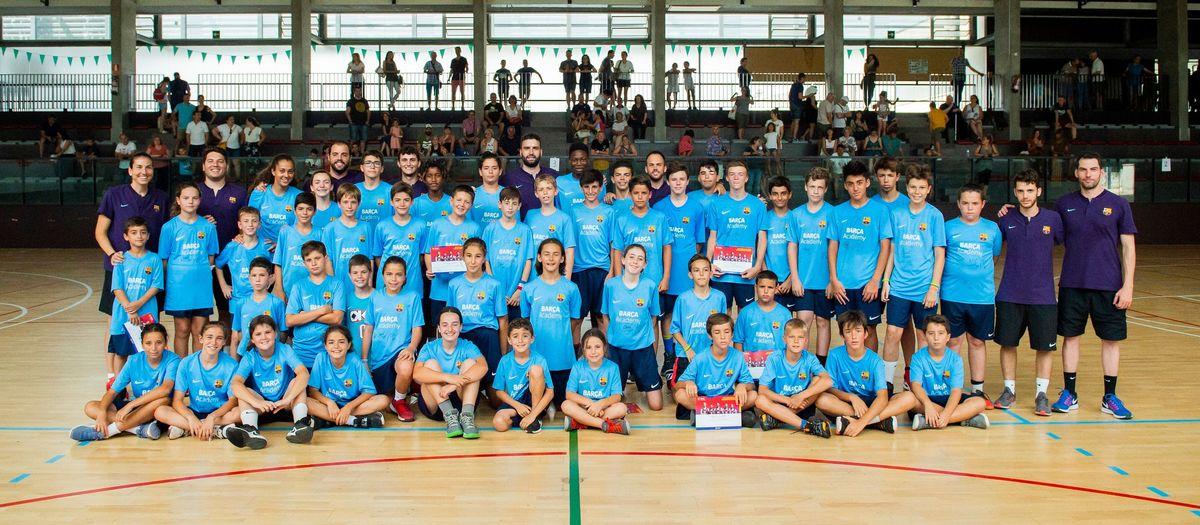 Fin de fiesta del Campus Barça de Baloncesto