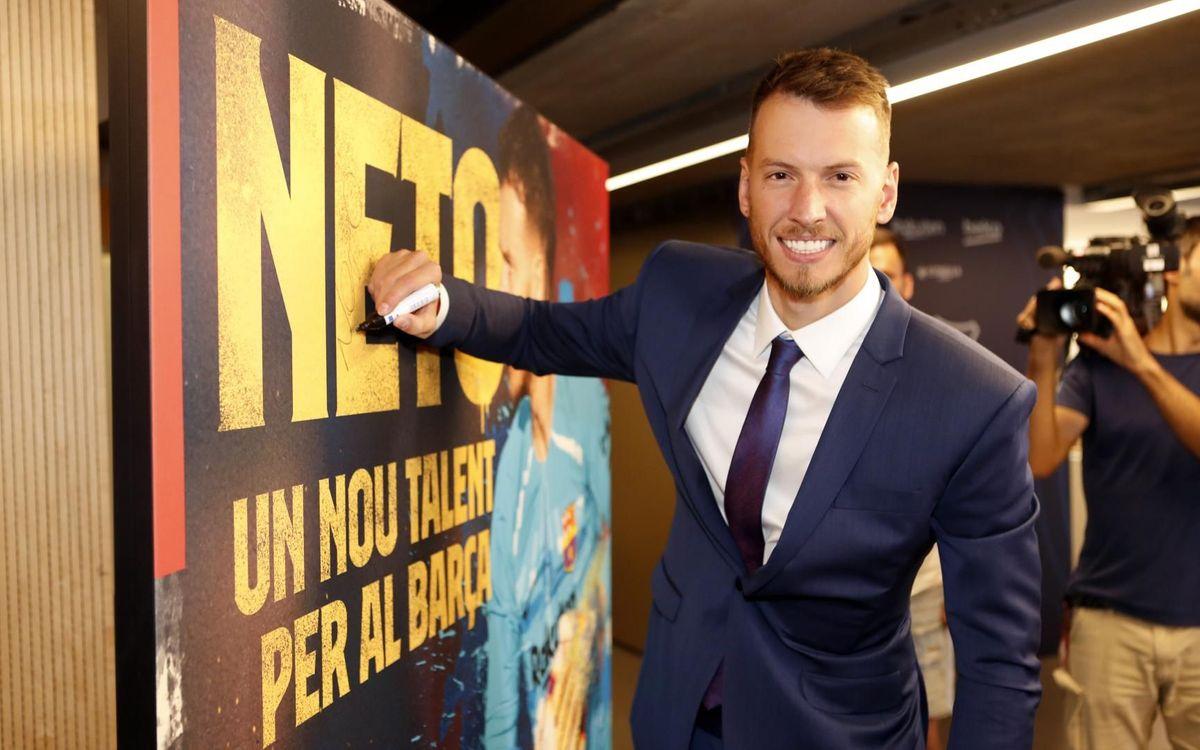 """Neto: """"Crec que arribo al Barça en el meu millor moment"""""""