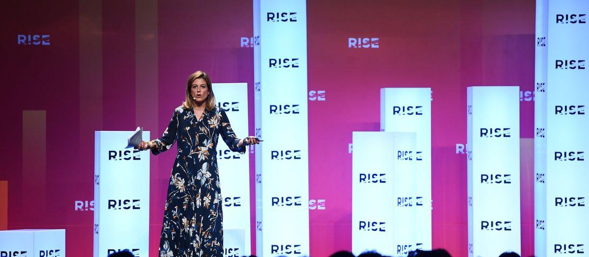 FC Barcelona board member Marta Plana discusses the Barça Innovation Hub at RISE technology conference, Hong Kong