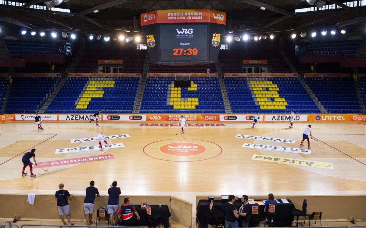 El Palau Blaugrana, a punt per acollir els World Roller Games