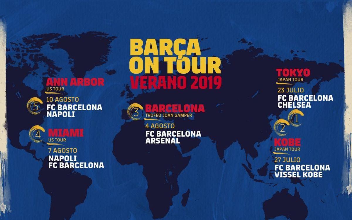 Así será la pretemporada del Barça