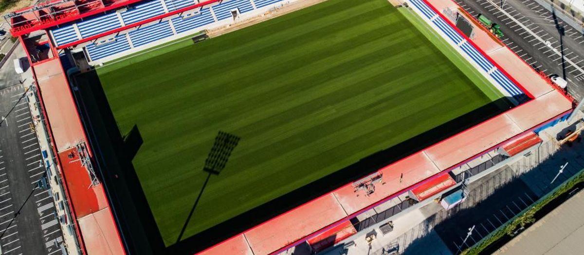 L'acte d'inauguració de l'Estadi Johan Cruyff, el 27 d'agost