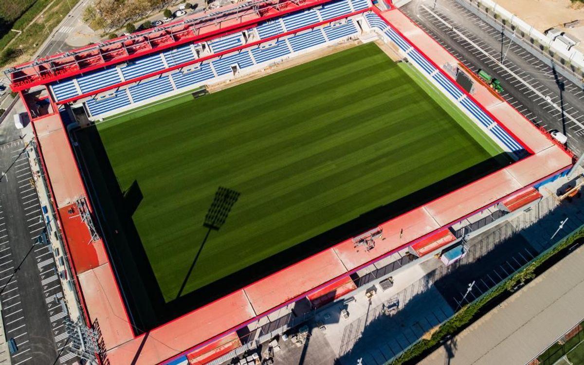 El acto de inauguración del Estadio Johan Cruyff, el 27 de agosto