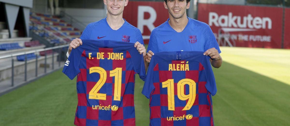 De Jong lluirà el dorsal '21' i, Aleñá, el '19'