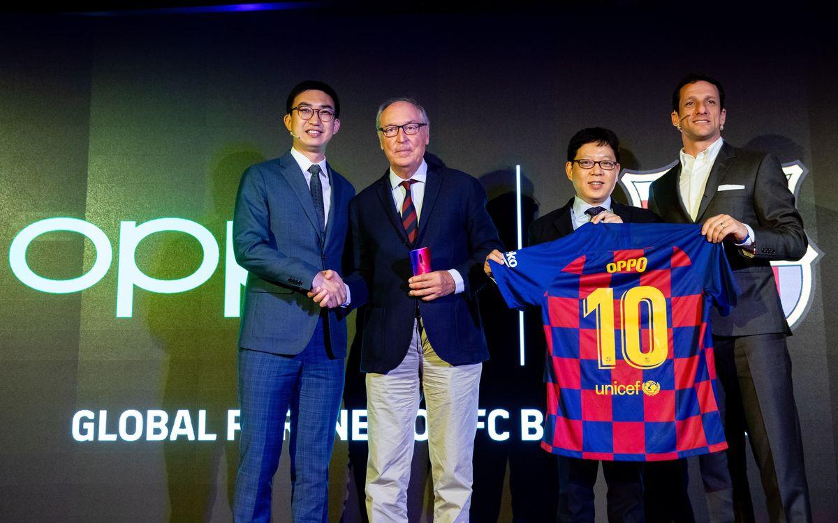 El FC Barcelona i Oppo renoven el seu acord de patrocini per a les properes tres temporades