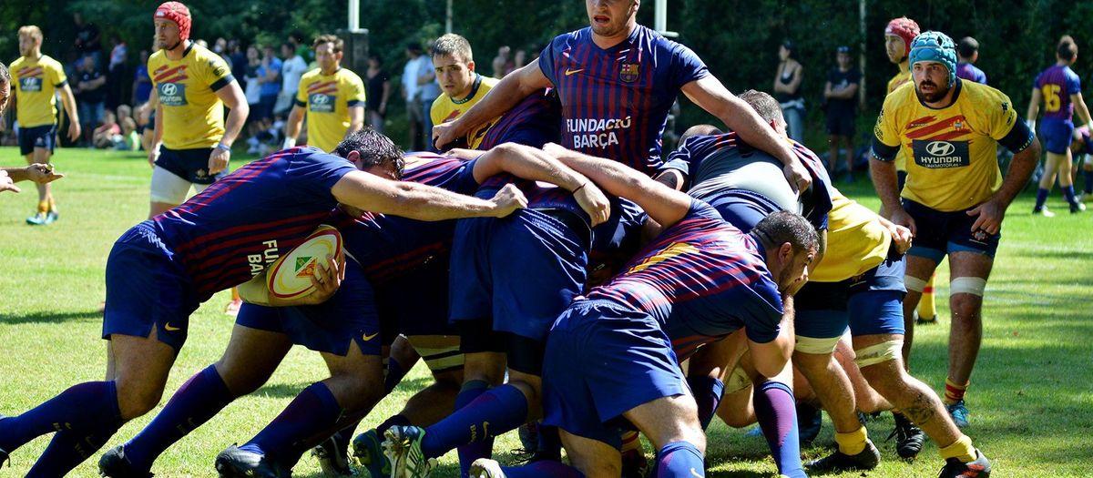 El Barça de Rugby, de gira por Japón con el primer equipo de fútbol
