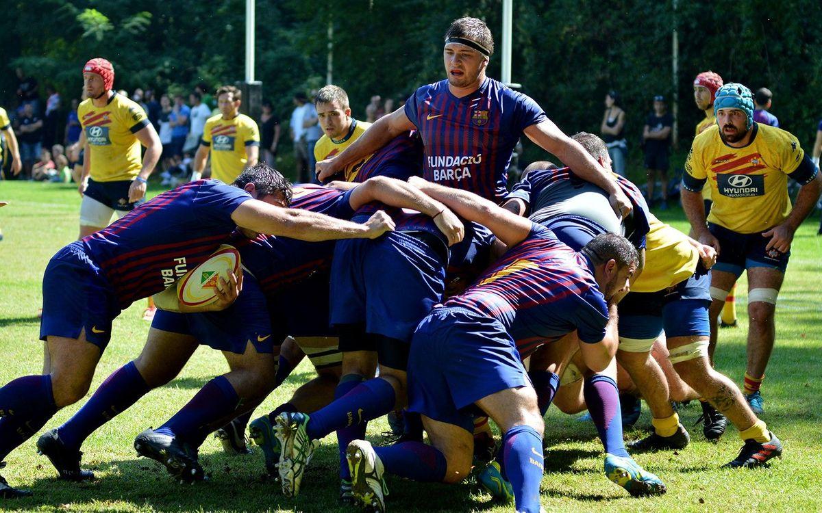 El Barça Rugby, de gira pel Japó amb el primer equip de futbol