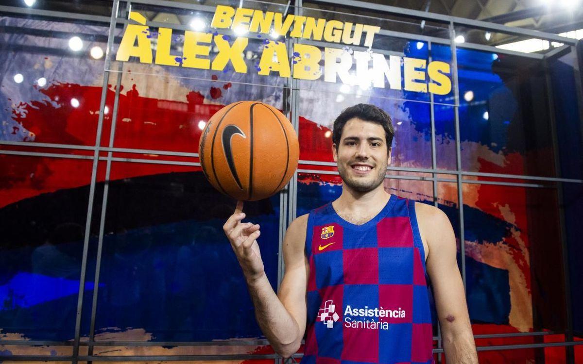 Àlex Abrines durant la seva presentació al Palau Blaugrana