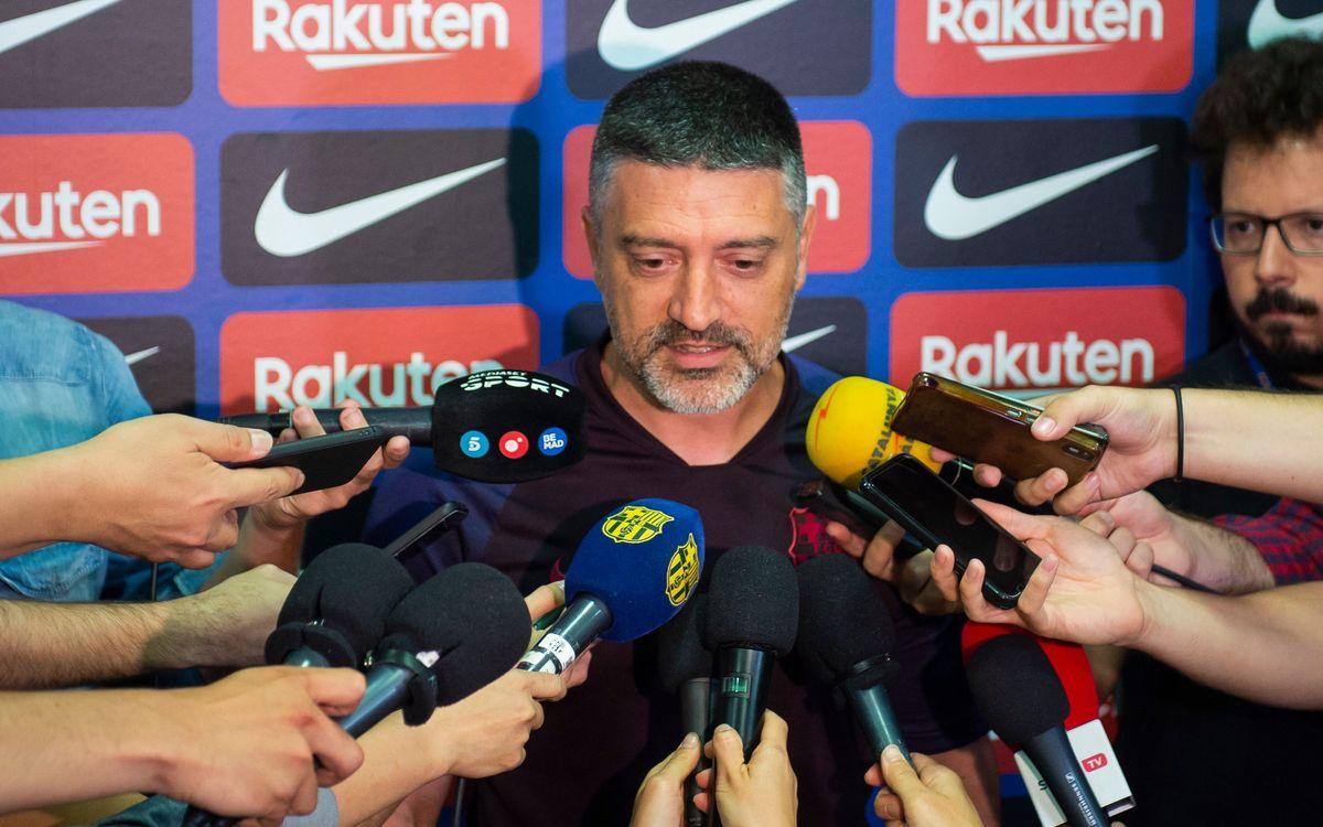 """Garcia Pimienta: """"Hem d'aspirar al màxim"""""""
