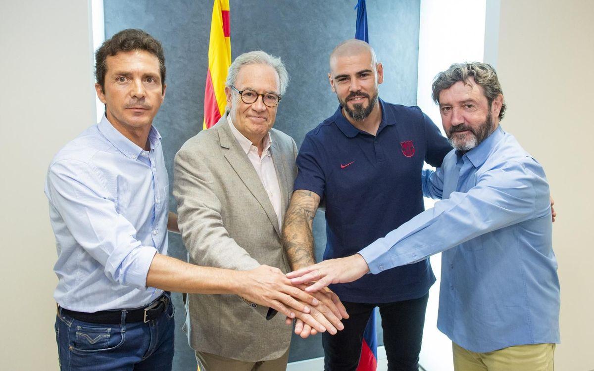 Víctor Valdés, nuevo entrenador del Juvenil A
