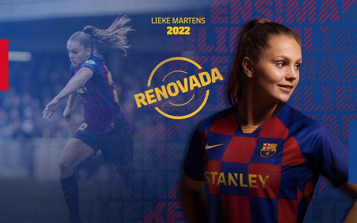 Acuerdo para la renovación de Lieke Martens