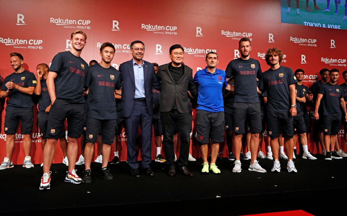 Japan and Rakuten welcome Barça