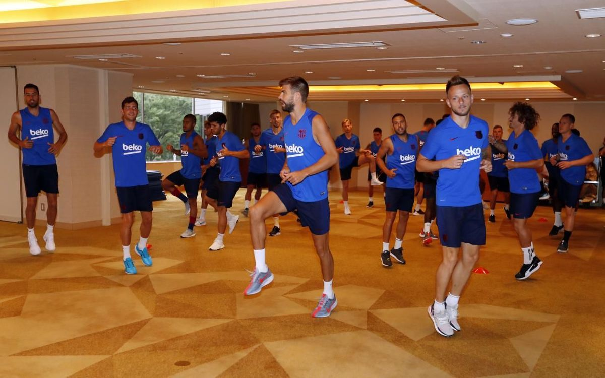 Barça work out at hotel in Tokyo