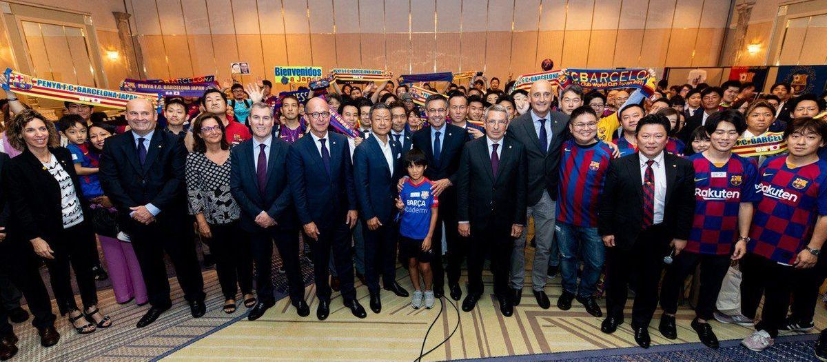Recepción multitudinaria de la Peña Barça Japan