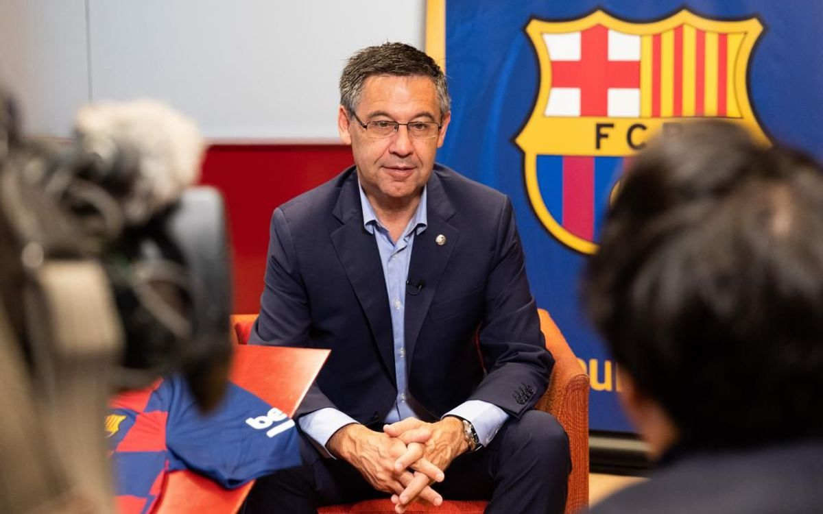 President Bartomeu features on Japanese media