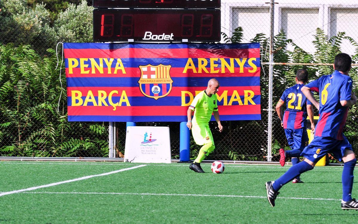 La Peña Barcelonista de Arenys de Mar recibe al ABJ masculino para disputar un partido