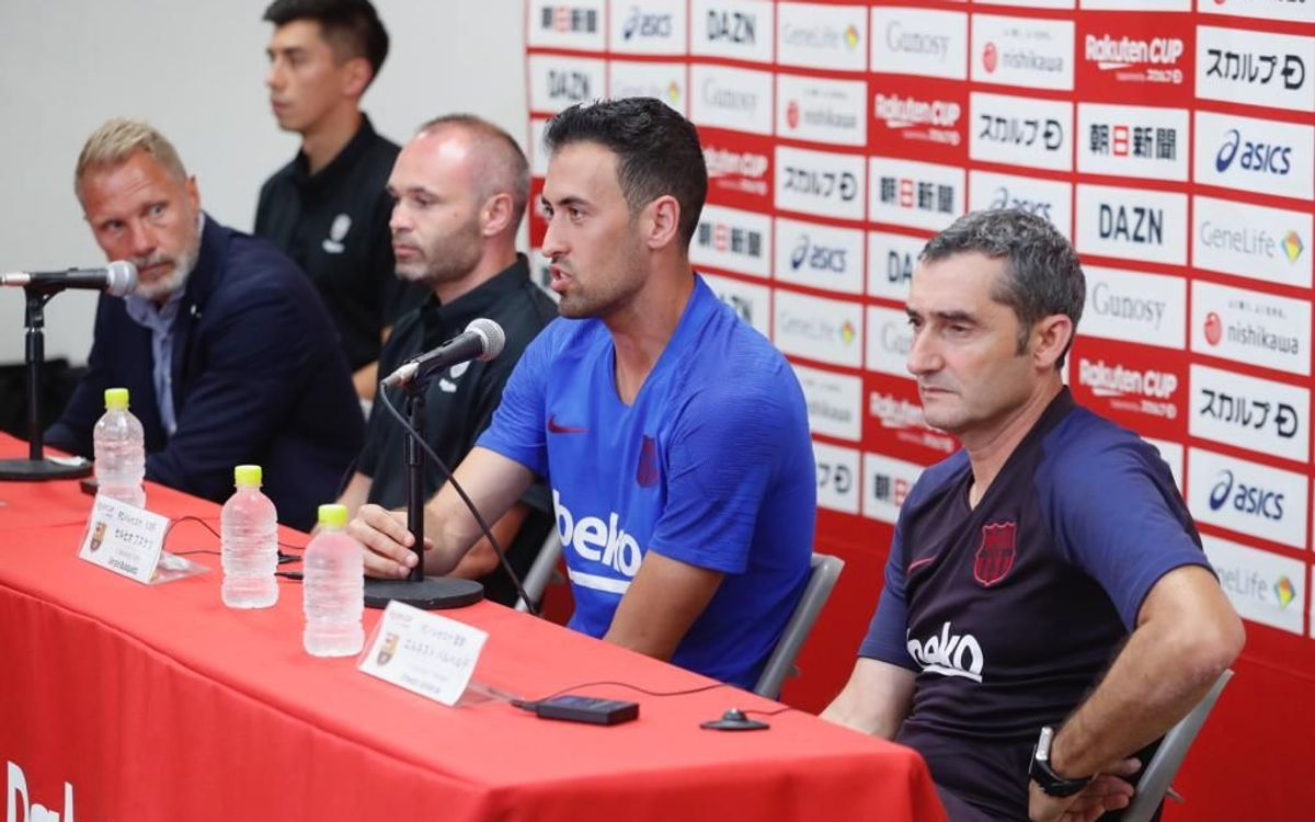 Les declaracions de Valverde i Sergio Busquets en la prèvia de Kobe