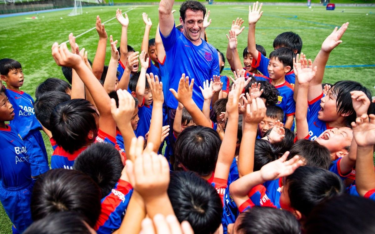 FC Barcelona's Barça Academy hold clinic with Barça Legend Juliano Belletti in Japan