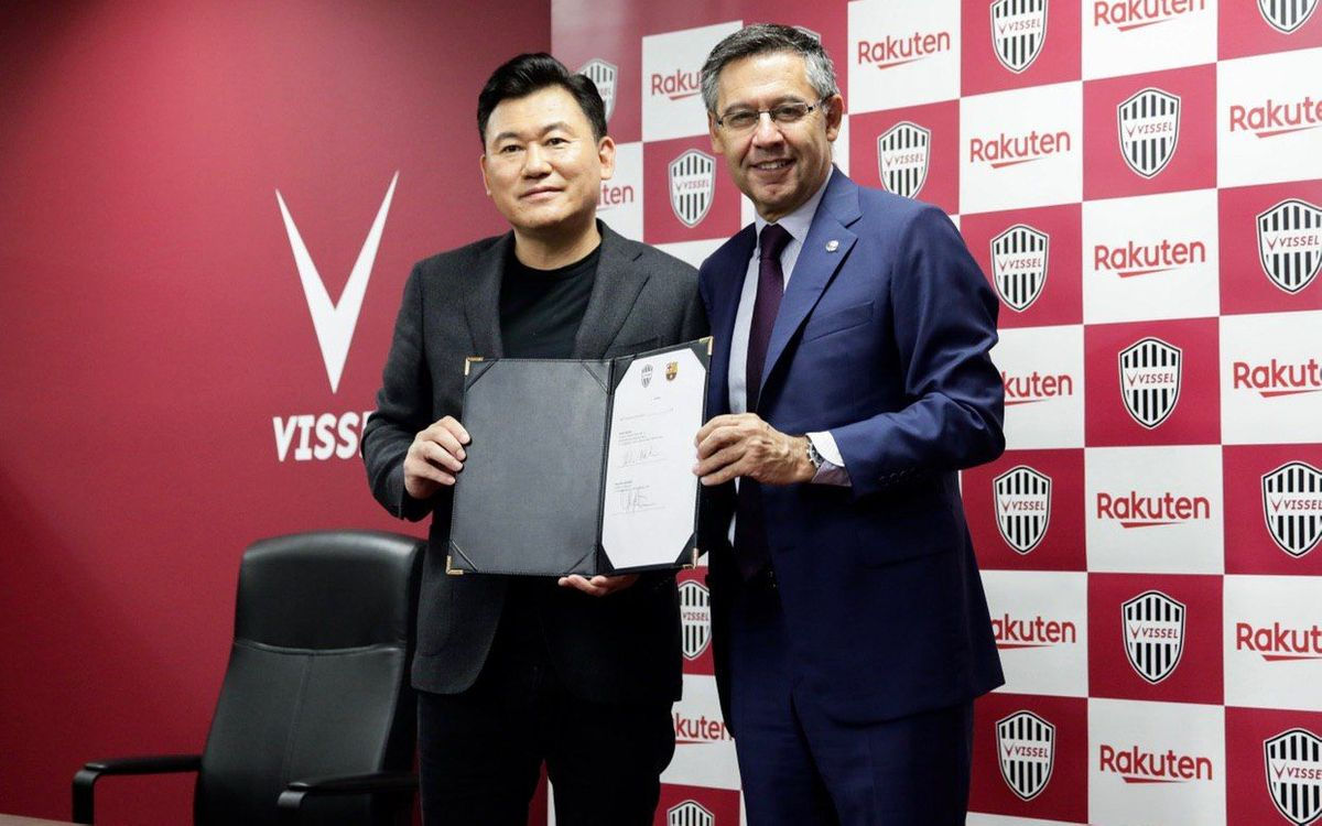 FC Barcelona signs collaboration agreement with Vissel Kobe