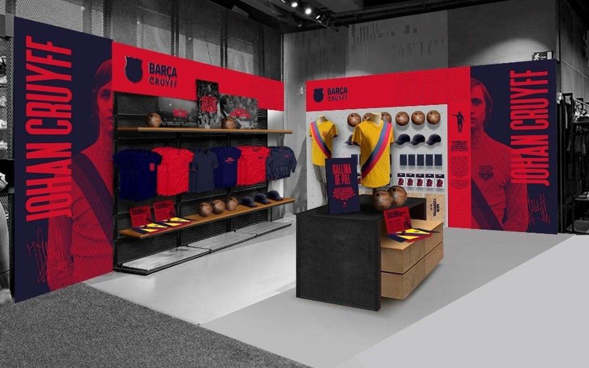 El FC Barcelona lanza en exclusiva la colección de ropa 'Gallina de piel' en homenaje a Johan Cruyff