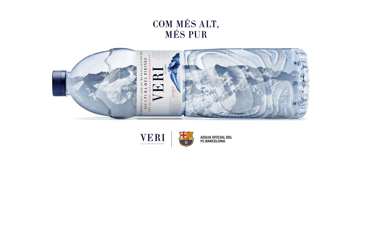 El FC Barcelona incorpora aigua de Veri com a nou patrocinador del club per a les properes tres temporades