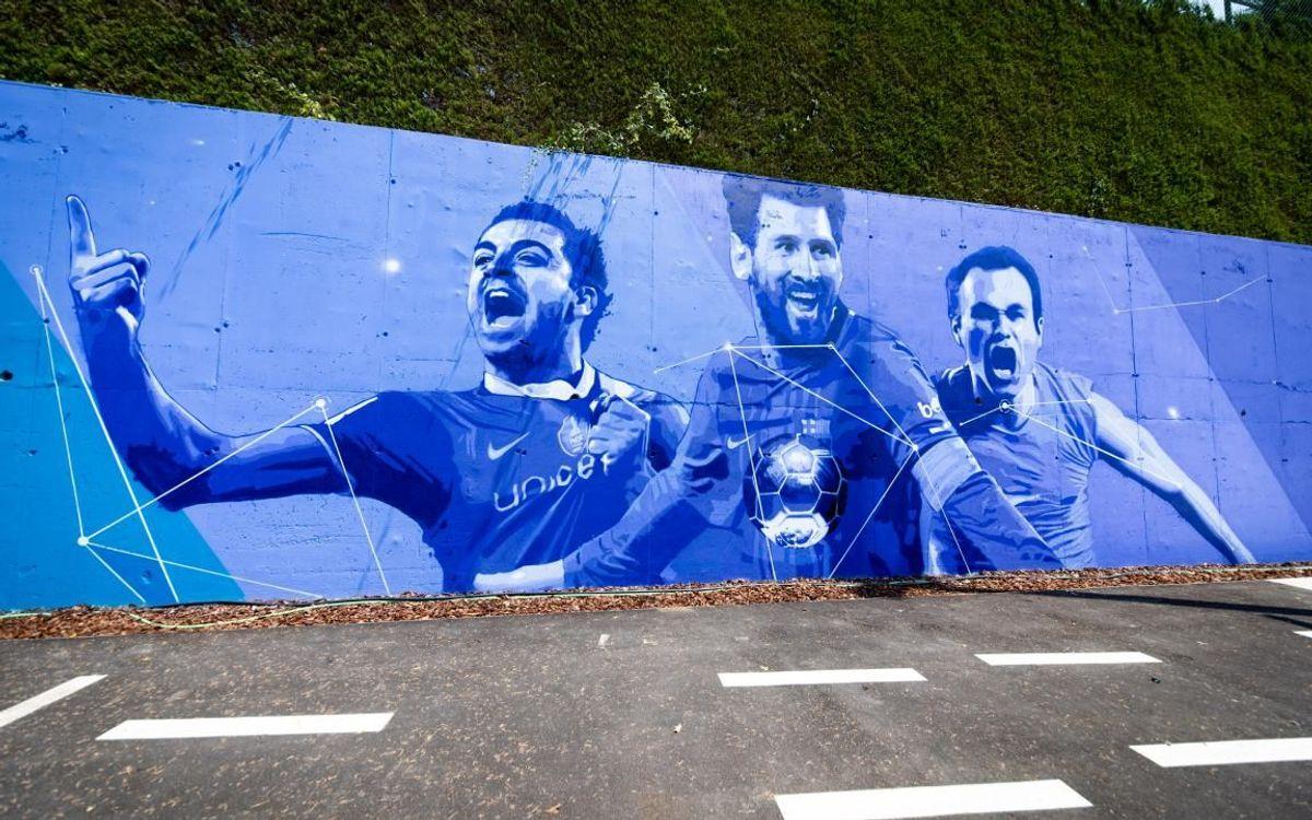 Amb Messi, Xavi i Iniesta