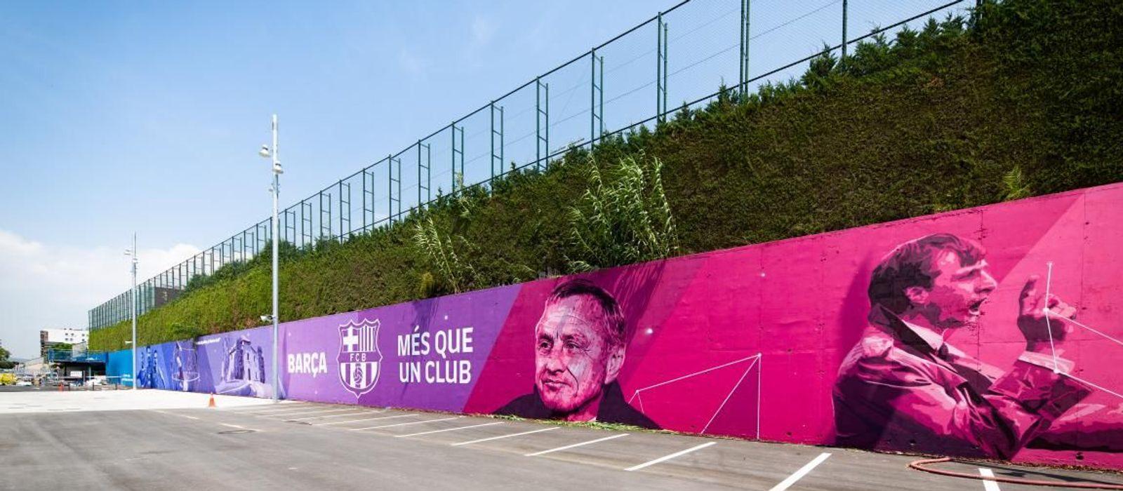 New Johan Cruyff inspired mural at the Ciutat Esportiva