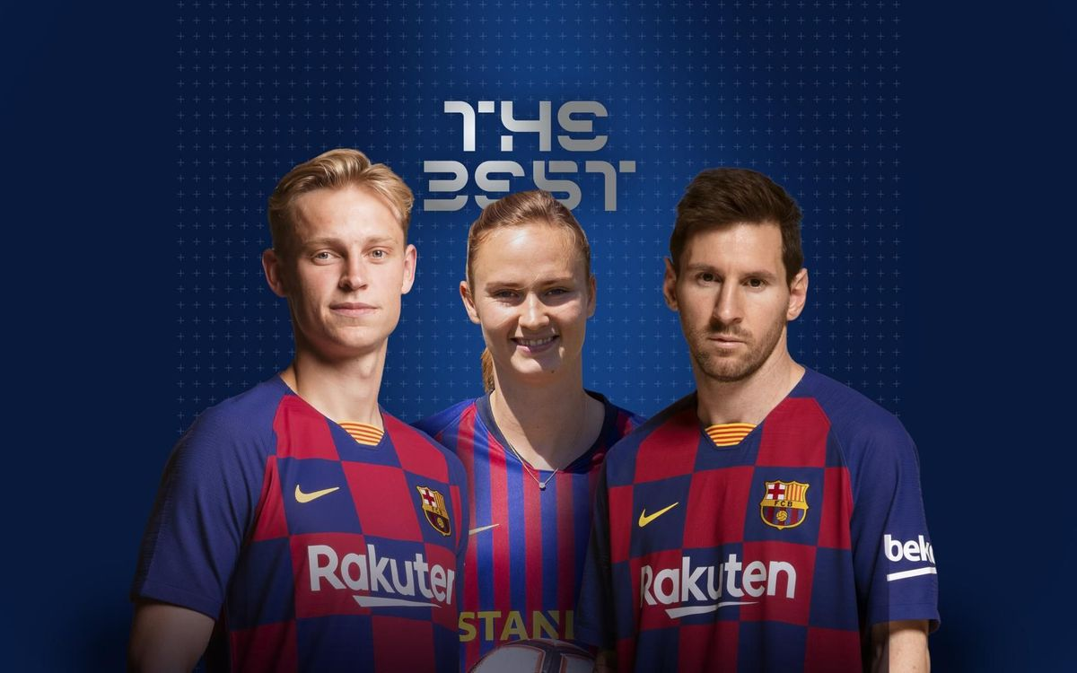 Messi, De Jong and Hansen, nominated for 'The Best' awards
