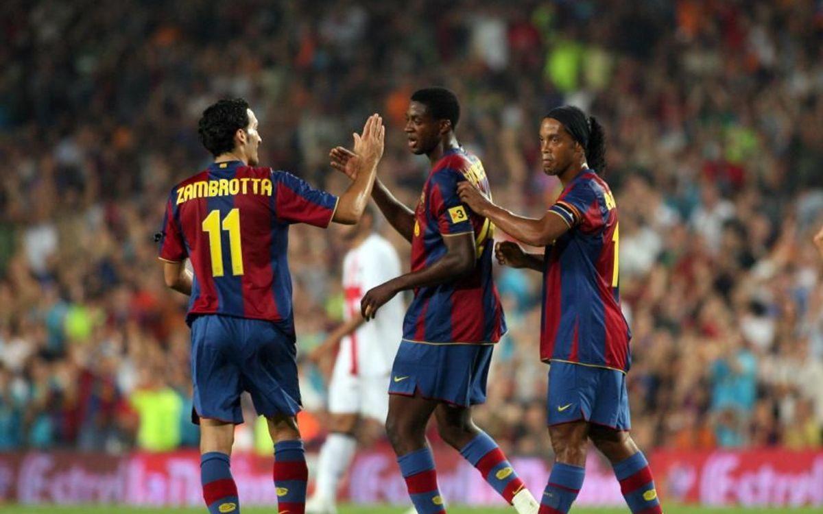 Touré Yaya debutó con gol en el Gamper de 2007