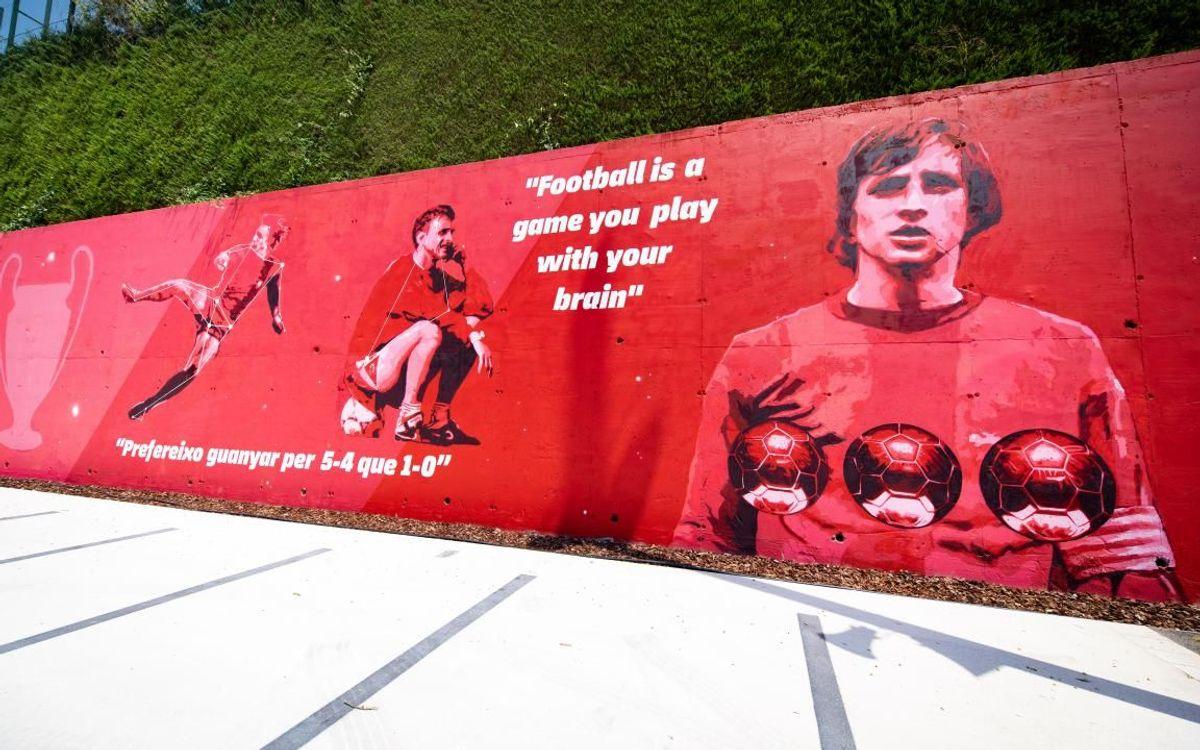 Així és el nou mural de la Ciutat Esportiva