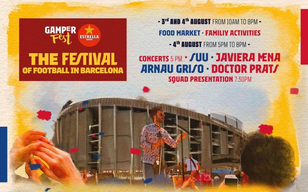 Family Festival for the Gamper game at Camp Nou