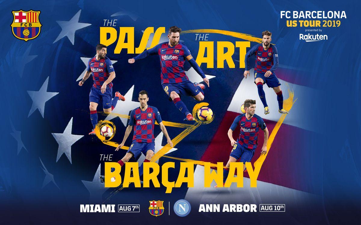 L'agenda de la tournée du Barça aux États-Unis