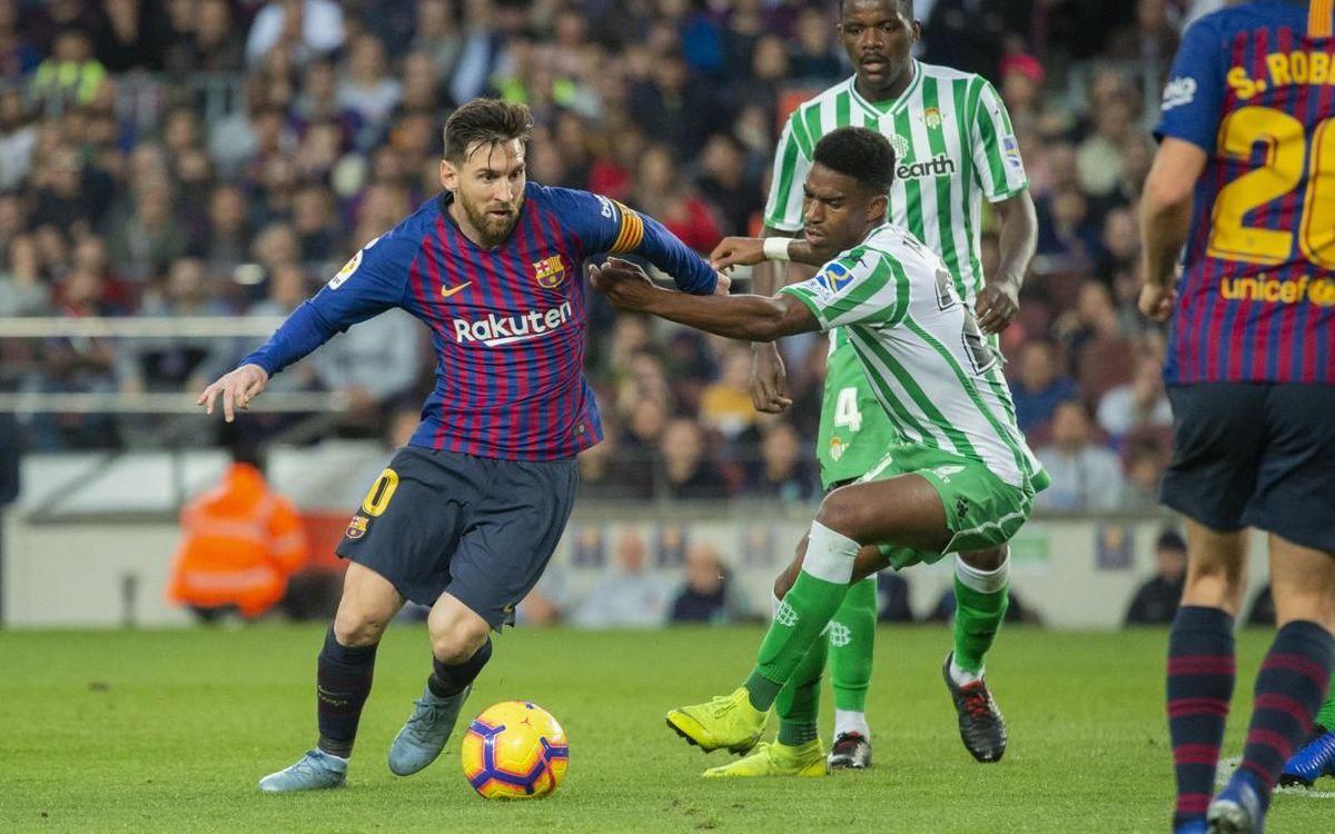Junior contre le Barça, avec le Betis