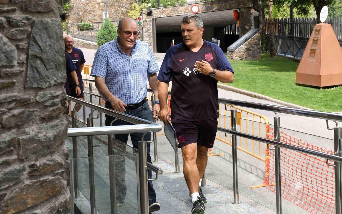 Jordi Argemí visita l'equip a l'estada d'Encamp
