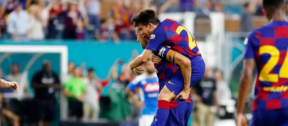 Sergio i Rakitic decideixen el primer assalt americà (2-1)