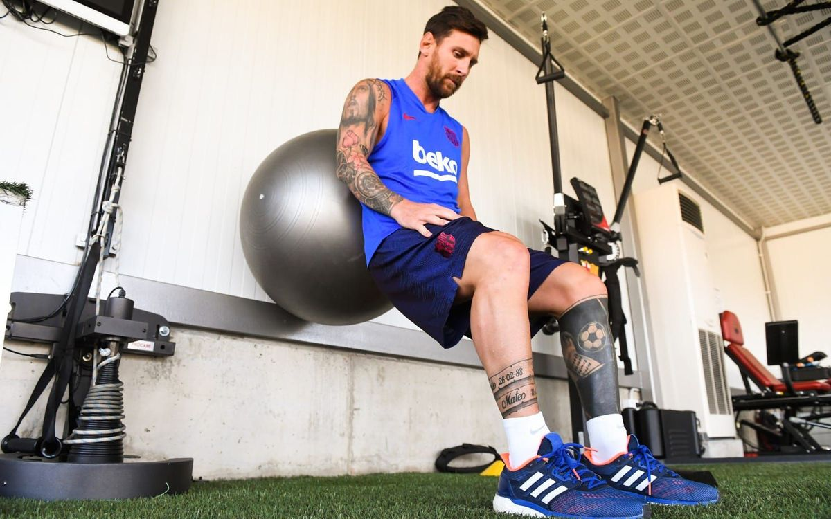 Leo Messi continues recovery process