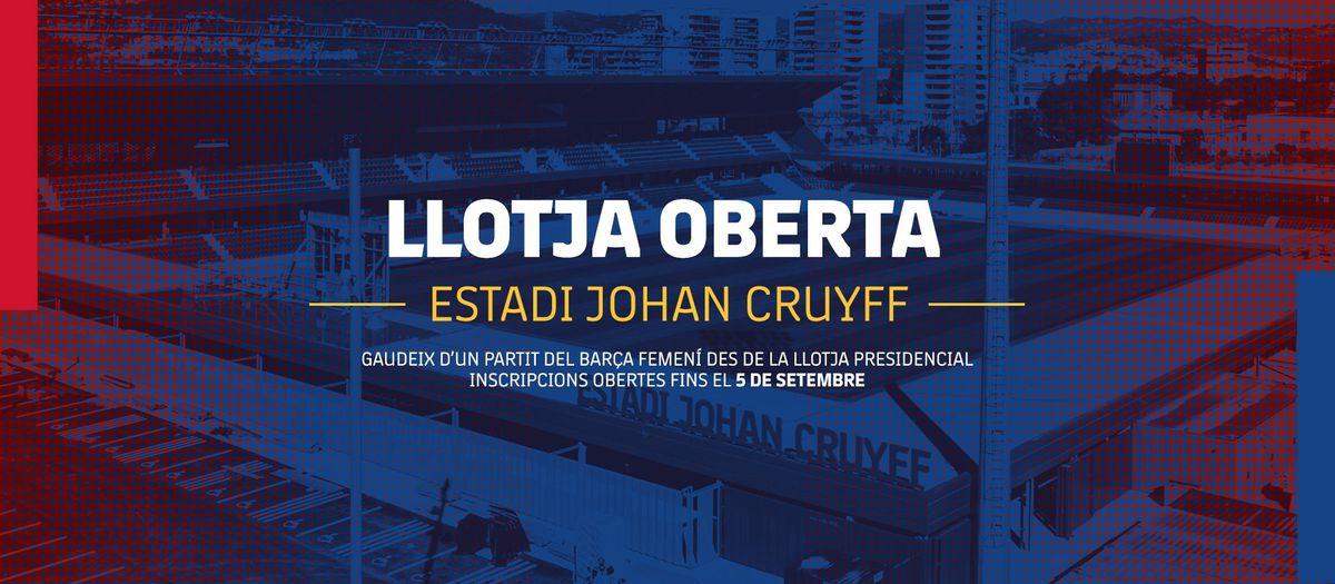 Gaudeix d'un partit de l'equip femení des de la Llotja de l'Estadi Johan Cruyff