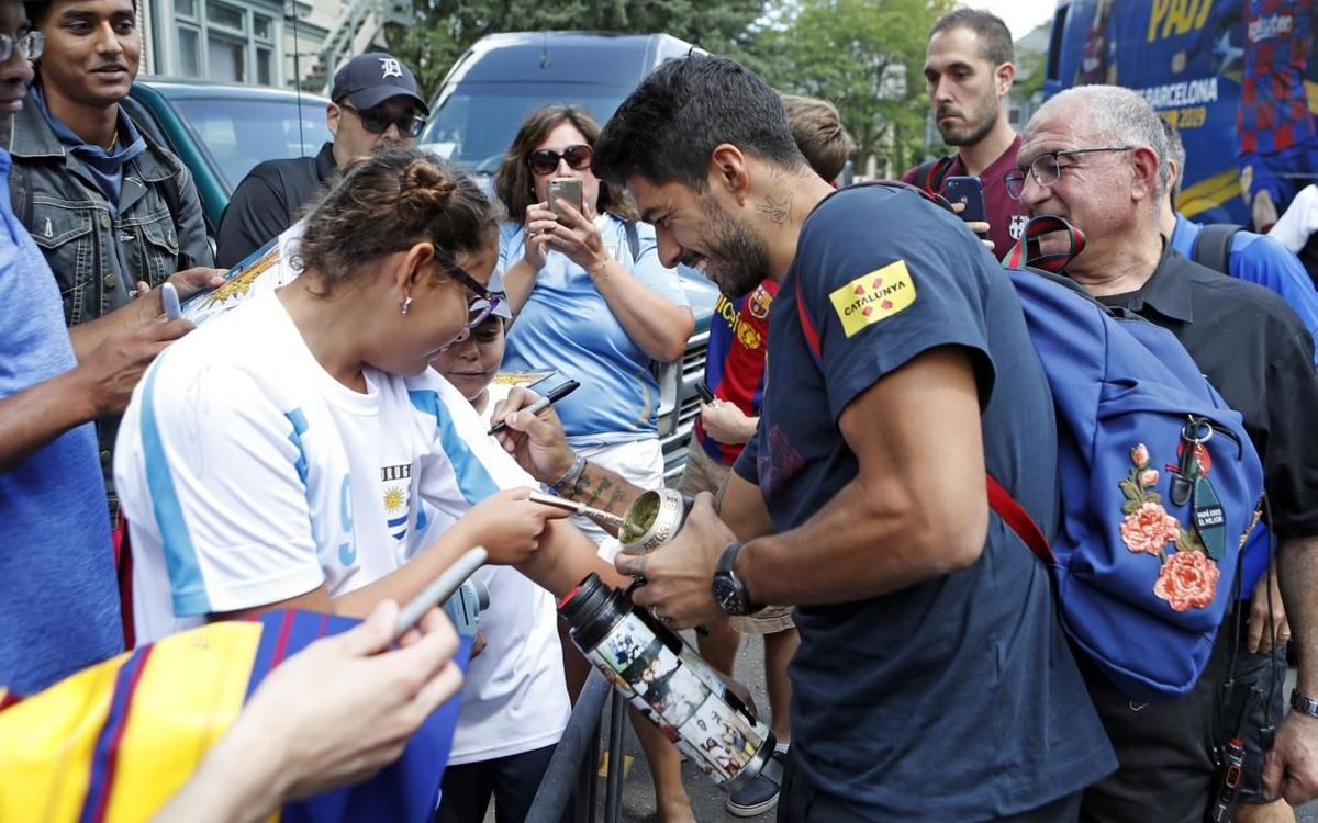 A day with Luis Suárez