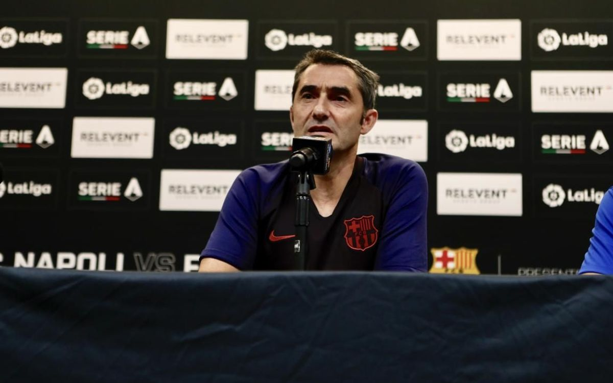 Valverde: 'I'm happy with the players I have. They are all very very good'