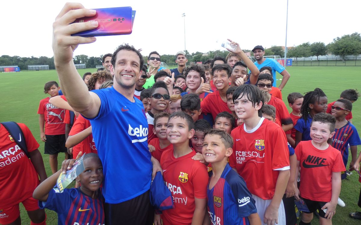 Belletti joins youngsters for coaching clinics at Barça Academies in Orlando, Columbus and Chicago