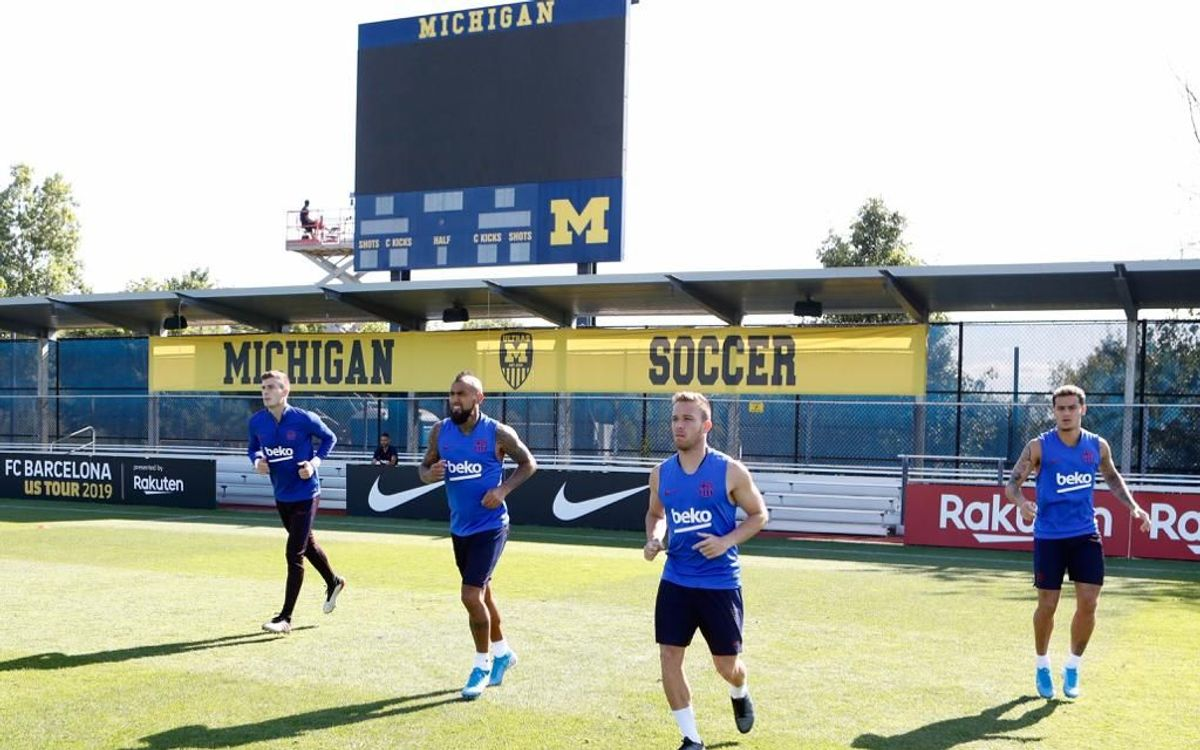 Blaugrana quartet train in Ann Arbor