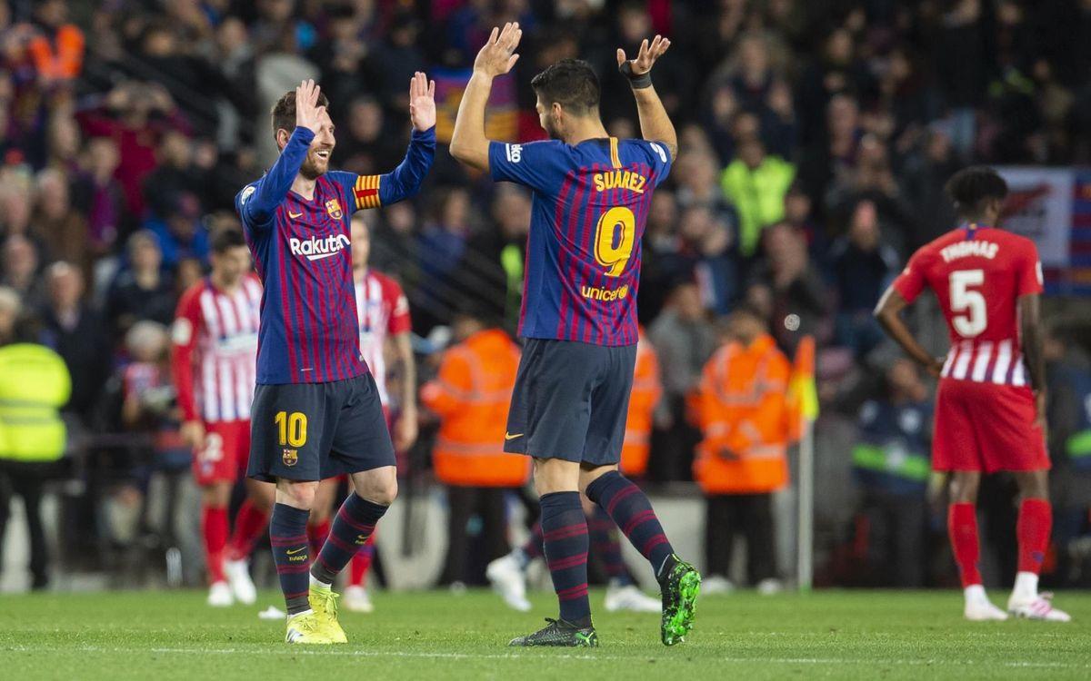 Messi y Suárez, máximos goleadores azulgranas de las jornadas 1