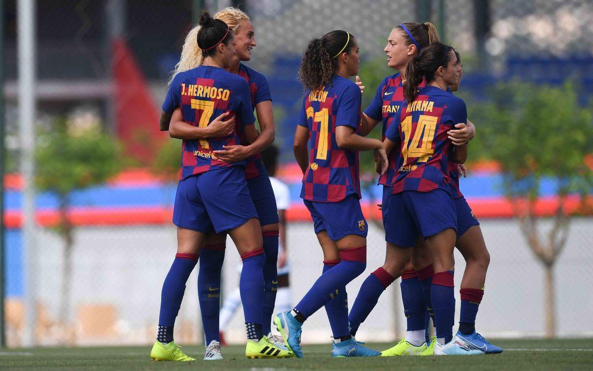 Barça Femení - Olympique de Marsella: Golejada en el primer i únic test com a locals (5-0)