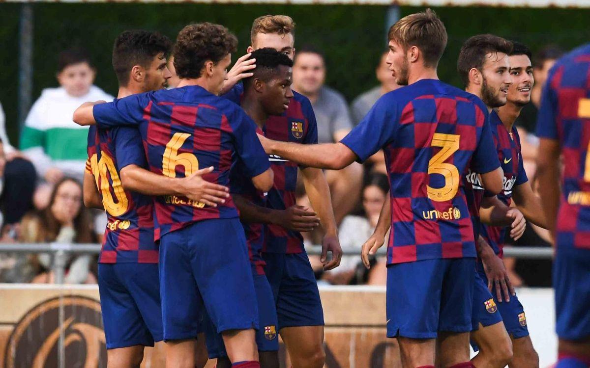 CE Banyoles - Barça B: Triunfo con remontada azulgrana (1-3)