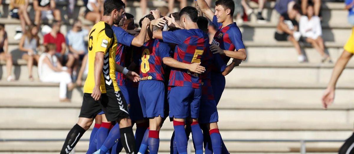 Barça B – UE Llagostera: Empat en el darrer amistós de la pretemporada (1-1)