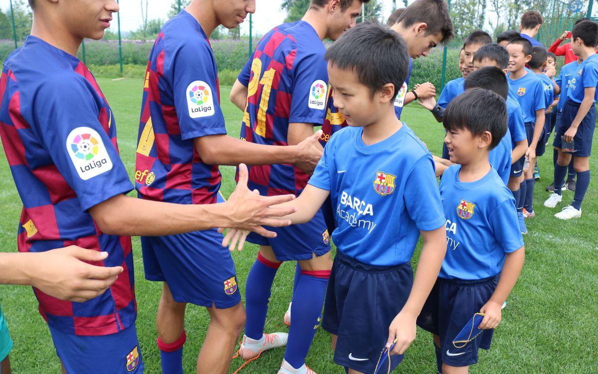 Encuentro del Cadete A con la Barça Academy de Kunming