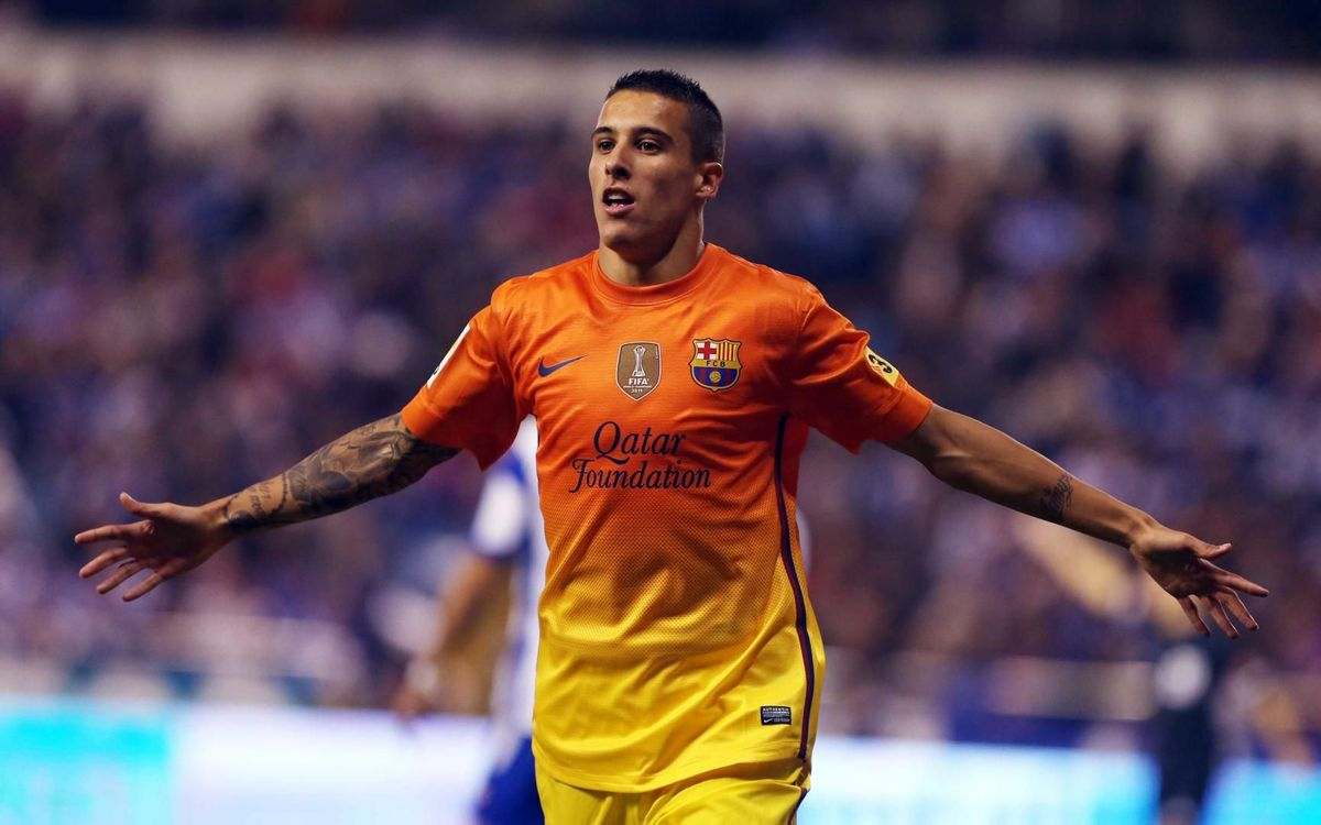 Cristian Tello celebrant un gol amb la samarreta blaugrana - MIGUEL RUIZ-FCB