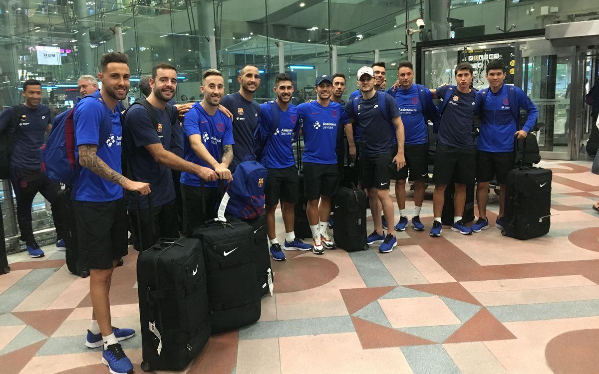 El Barça llega a Bangkok para disputar la Intercontinental